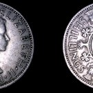 1963 Great Britain 1 Florin World Coin - UK England