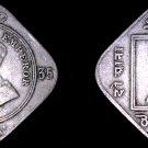 1935-B Indian 2 Anna World Coin - British India