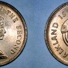 1974 Falkland Islands 1/2 Penny World Coin - Salmon