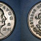 1961 Mexican 5 Centavo World Coin - Mexico