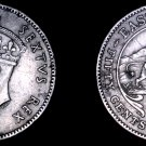 1948 East African 50 Cent World Coin - British Admin East Africa Lion