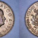 1970 Mexican 5 Centavo World Coin - Mexico