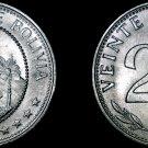 1967 Bolivian 20 Centavo World Coin - Bolivia