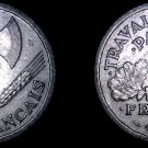 1943 French 2 Franc World Coin - German Occupied France