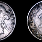 1884 Straits Settlements 10 Cent World Silver Coin - British East India Company