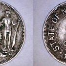 1903-H British North Borneo 2 1/2 Cent World Coin - Malaysia