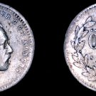 1861-ST Sweden 10 Ore World Silver Coin