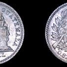 1896 Guatemalan Half 1/2 Real World Silver Coin - Guatemala