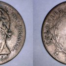 1825-A French Colonies 5 Centimes World Coin