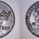 1925 Swedish 2 Ore World Coin - Sweden