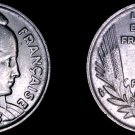 1933 French 5 Franc World Coin - France