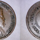 1907 Straits Settlements 1 Cent World Coin