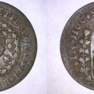 1828-R Brazilian 10 Reis Counterstruck on 20 Reis World Coin - Brazil