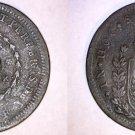 1823-29-R Brazilian 20 Reis Counterstruck on 40 Reis World Coin - Brazil
