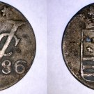 1786 Netherlands East Indies 1 Duit World Coin - Zeeland Arms
