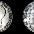 1901(01) Spanish 1 Peseta World Silver Coin - Spain