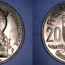 1961(a) French Reunion 20 Franc World Coin