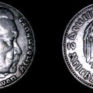 1935-A German 5 Reichsmark World Silver Coin -  Germany 3rd Reich