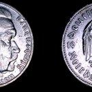 1936-G German 5 Reichsmark World Silver Coin -  Germany 3rd Reich