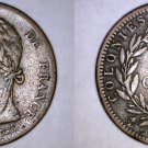 1828-A French Colonies 10 Centimes World Coin