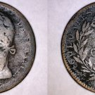 1829-A French Colonies 10 Centimes World Coin