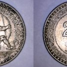1926 Monaco 2 Franc World Coin