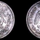 1906 Mexican 50 Centavo World Silver Coin - Mexico