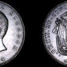 1944-Mo Ecuadorian 5 Sucres World Silver Coin - Ecuador