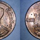 1957 BE2500 Thai 10 Satang World Coin - Thailand Siam Y-79a