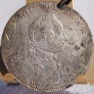 1753 German States Brandenburg-Ansbach 2/3 Thaler World Silver Coin - Hole/Loop
