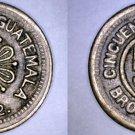 1922 Guatemalan 50 Centavo World Coin - Guatemala