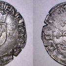 1551-B French Douzain Aux Crescent World Coin - France Henry II