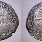 1551-M French Douzain Aux Crescent World Coin - France Henry II