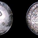 1735-IAB German States Brunswick-Luneburg-Calnb-Hnvr 4 Mariengroschen World Coin