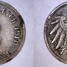 1914 G German 2 Pfennig World Coin -  Germany