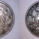1905 J German Empire Half (1/2) Mark World Silver Coin -  Germany