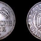 1950 J German 1 Mark World Coin - Germany
