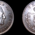 1963 Danish 5 Kroner World Coin -Denmark