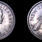 1962 New Zealand 6 Pence World Coin