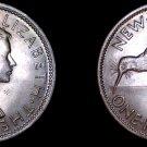 1962 New Zealand 1 Florin World Coin