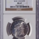 1958 Vatican City 500 Lire World Silver Coin - NGC MS67