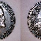 1855(c) FK/VS Danish 1 Riksdaler World Silver Coin - Denmark - Frederik VII