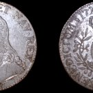 1727-R French 1 ECU World Silver Coin - France Orleans Louis XV