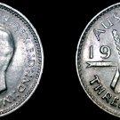1941 (m) Australian 3 Pence Silver World Coin - Australia