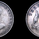 1925 Australian 3 Pence World Silver Coin - Australia