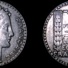 1932 French 10 Franc World Silver Coin -  France