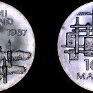 1967 Finnish 10 Markkaa World Silver Coin - Finland