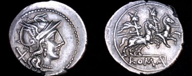 circa 211BC Roman Republic Anonymous AR Denarius Coin - Ancient Rome