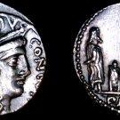 62BC Roman Republic Aemilia-10 LA Lepidus Paullus AR Denarius Coin -Ancient Rome