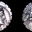 79BC Roman Republic Claudia-6 Claudius AR Denarius Coin -Ancient Rome